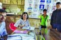 Proxy teachers greet Ukhrul SDO during inspection