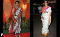 Photos: Sushmita, Kajol, Ayan seek blessings from goddess Durga