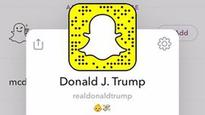 Twitter just isnt enough President Trump takes to Snapchat
