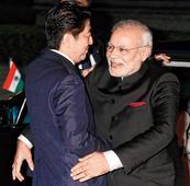 Gita gift to Abe amid hard bargain