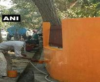 After Haj house, parks, dividers painted saffron in Lucknow