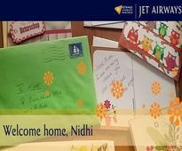 Welcome home, Nidhi!