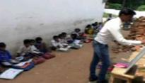MP: No building for three years, schools in Chhatarpur district forced to conduct classes on road