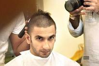 Ranveer shaves off his head for Bajirao Mastani