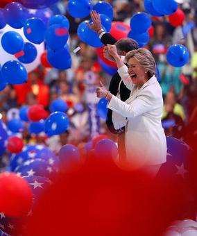 'Moment of reckoning': Hillary accepts historic presidential nomination