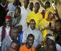 Adama Barrow sworn in as Gambian president in Senegal