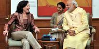 Global CEO, Oracle, Safra Catz calls on the Prime Minister Narendra Modi