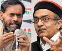 AAP rebels Prashant Bhushan, Yogendra Yadav may float new political outfit