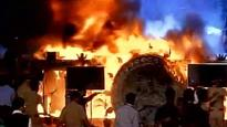 Watch: Massive fire breaks out on during cultural programme at Make in India Week event