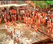 Lakhs gather to take holy bath during Kumbh festival in Nashik and Trimbakeshwar