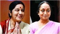 Sushma targets Meira neutrality, posts 2013 video