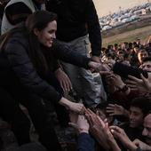 Angelina Jolie meets ISIS victims during Iran's refugee camp visit