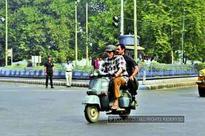 Amitabh Bachchan's nostalgic scooter ride