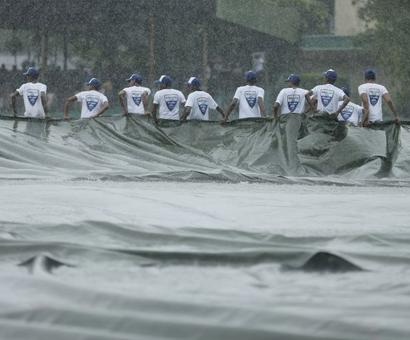 PHOTOS: India suffer early blows on rain-shortened Day 1 in 3rd Test