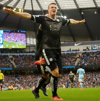 EPL PHOTOS: Leicester City take giant step towards title; Spurs up to second