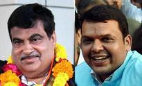 Maharashtra CM probables Gadkari, Fadnavis greet each other on Diwali