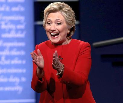 Hillary draws first blood in presidential debate