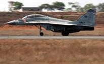 Goa: MiG-29K jet skids, catches fire