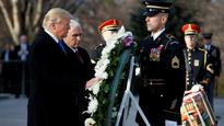 Ahead of inauguration, Donald Trump places wreath at Tomb of the Unknowns in Washington