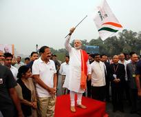 Run for Unity: Modi walks down Rajpath, lauds Patel