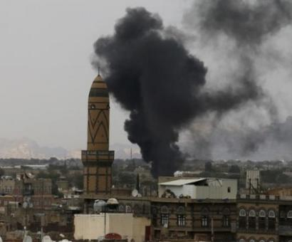 Bombs at mosque in Yemen's capital kill at least 20 people