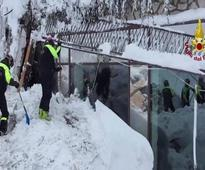 Six people found alive under avalanche that hit Italian hotel