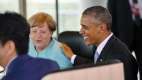 Oh Angela! G7 leaders take time out to let the love in