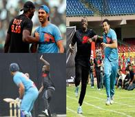 DIFFERENT STROKES: Sprinter Usain Bolt beats Yuvraj Singh in cricket, but loses a race!