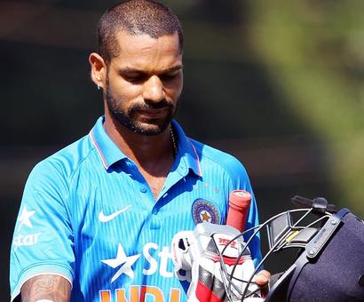 Opener Dhawan to miss first three Australia ODIs