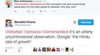 Mark Andreessen's colonialism tweet: Zuckerberg calls it deeply upsetting