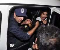 PIX: Ranbir Kapoor loses cool with media, drives off with TV camera