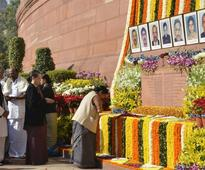 Leaders pay homage Parliament attack martyrs