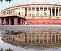 Parliament day after Congress-led UPA's poll debacle