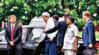 I don't know if you came in boats... but I salute you: John Kerry at IIT-Delhi