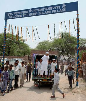 Village in Haryana named after Donald Trump