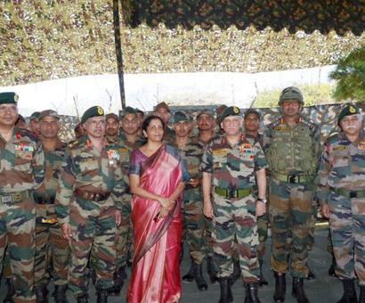 Sitharaman visits forward areas along LoC in Kashmir