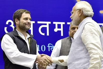 PM congratulates Rahul on elevation as Congress president