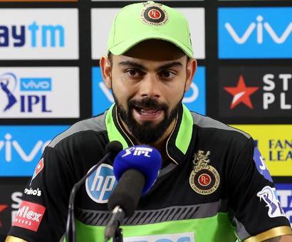 RCB captain Kohli admits his mistake