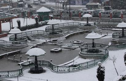 Snowfall continues at many places across Kashmir