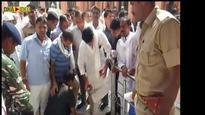 WATCH: Rajasthan Congress leader caught asking security guard to take off his shoes at temple