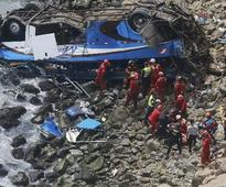 Peru bus crash death toll climbs to 48; rescue operations underway