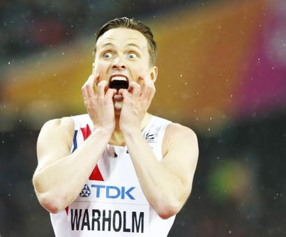World Championships PHOTOS : 'Pinch me!' demands hurdles champ Warholm in disbelief