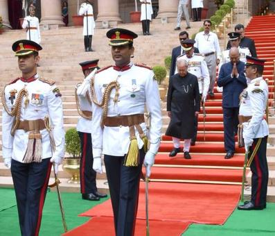 When the President dropped off Pranab at his new home