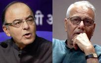 Jaitley slams Yashwant Sinha after latter's criticism of govt on economy
