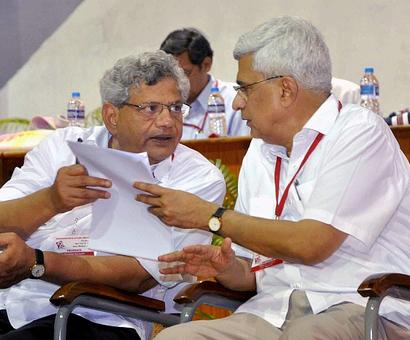 Yechury, Karat headed for showdown over aligning with Congress