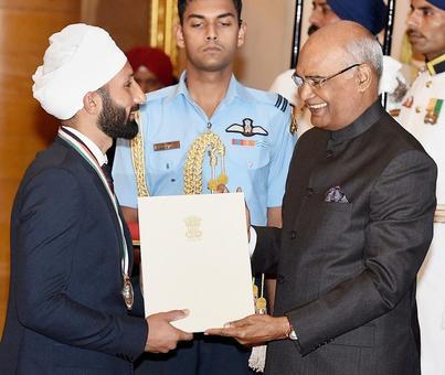 PIX: Sardar Singh, Jhajharia, bask in Khel Ratna glory
