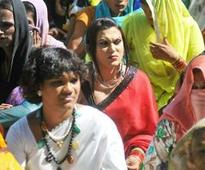 Transgender group demonstrates for government jobs in Hyderabad