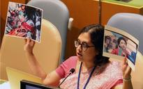 Holding photo of martyr Lt Umar Faiyaz in one hand, diplomat exposes Pakistan's sham at UNGA