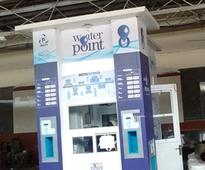 Drinking water for Re 1 at railway stations