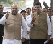 BJP takes charge in Maharashtra Shiv Sena joins bash